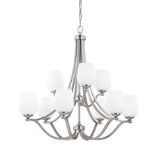 Vintner 9 Light Chandelier Satin Nickel