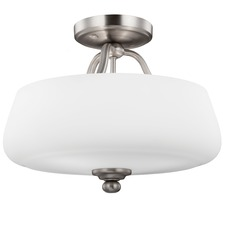 Vintner Semi Flush Mount Satin Nickel