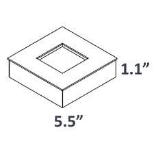 2.5 inch Square Base Cover