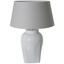Hekla Grey Table Lamp