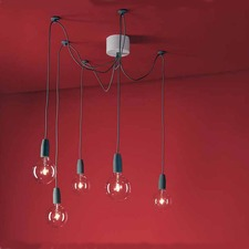 Multiplo 5 Light Off Center Pendant