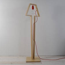 Earth Wooden Cable Floor Lamp