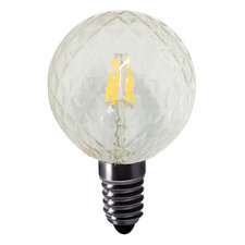 Faceted Globe 4W E12 Base Dimmable 80CRI 2700K
