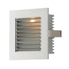Steplight Wall Sconce with Lourve Faceplate