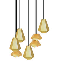 Cell Tall and Short 7 Light Multi-Pendant
