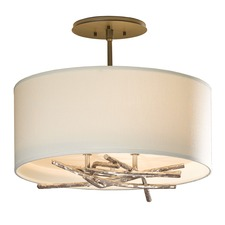 Brindille Small Soft Gold Semi Flush Mount