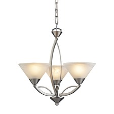 Elysburg Satin Nickel Chandelier
