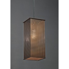 Clarus Long Square Shade Square Cutout Pendant