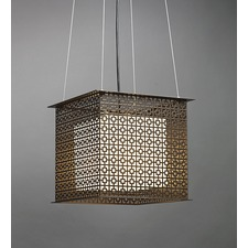 Clarus Square Shaded Geometric Cutout Pendant