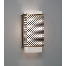 Clarus Squared Quatrefoil Cutout Wall Light
