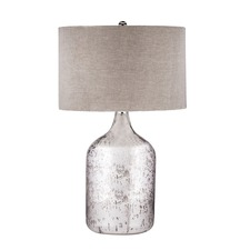 Tapered Mercury Glass Jug Lamp