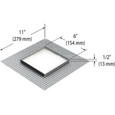 Modul Aim 1-Light Trimless Mesh Plate