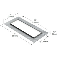 Modul Aim 3-Light Trimless Mesh Plate