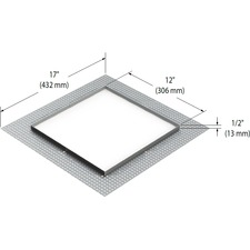 Modul Aim 4-Light Square Trimless Mesh Plate