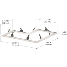 Modul Aim 3-Light L-Shape Trim