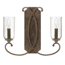 Harrison Seeded Glass 2 Light Wall Sconce