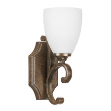 Harrison Misty White Glass Wall Sconce