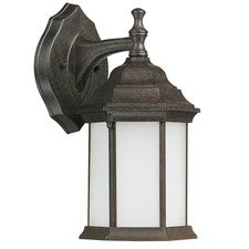 Main Street Outdoor Wall Sconce Frosted Glass