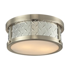 Diamond Plate Semi Flush Mount