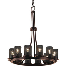 Wire Mesh Round Dakota Chandelier