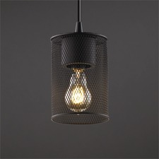 Wire Mesh Cylinder Pendant