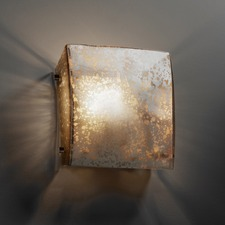 Mercury Glass Square Wall Sconce