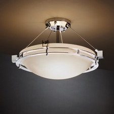Metropolis Bowl Semi Flush Mount
