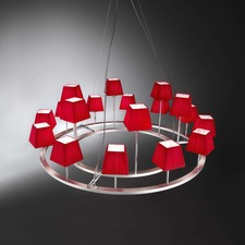 Lampara Chandelier with Square Shades