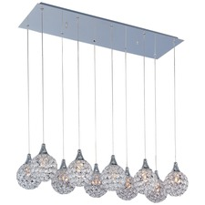 Brilliant 2 Row Linear Pendant