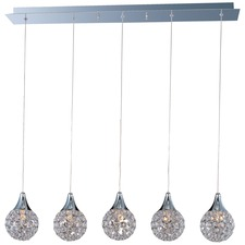 Brilliant 5 Light Linear Pendant