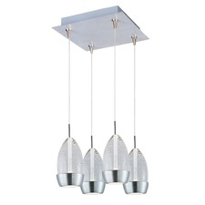 Luxe 4 Light LED RapidJack Pendant and Canopy