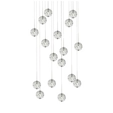 Bubble Ball 17 Light Round LED Pendant