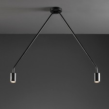 Caos 2 Light Ceiling Semi Flush Mount