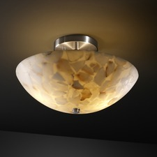 Alabaster Rocks Round Bowl Semi Flush Mount