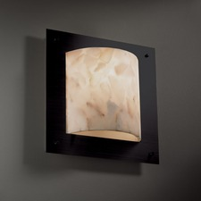 Framed Square 4 Sided Wall Sconce