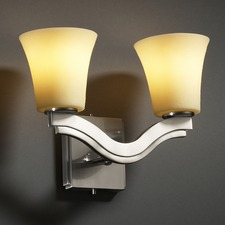 Candlearia Amber Bend 3 Light Wall Sconce
