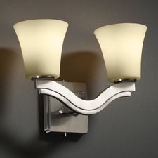 Candlearia Cream Bend 3 Light Wall Sconce
