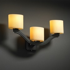 Candlearia Amber Bend 2 Light Wall Sconce