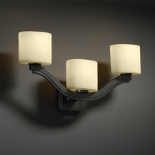 Candlearia Cream Bend 2 Light Wall Sconce