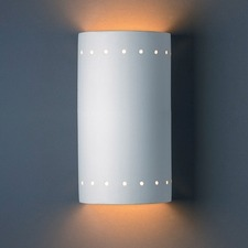 Outdoor Perforated Cylinder Wall Sconce