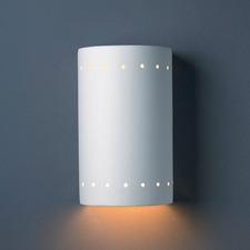Perforated Cylinder Downlight Wall Sconce
