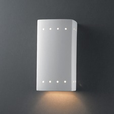Outdoor Perforated Rectangle Downlight Wall Sconce