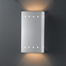 Outdoor Perforated Rectangle Wall Sconce