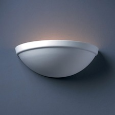 Quarter Sphere Rimmed Wall Sconce