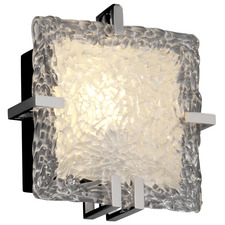 Clips Square Lace Glass Wall Sconce