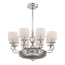 Levantara Chandelier Ceiling Fan with Light
