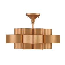 Grand Lotus Semi Flush Ceiling Light