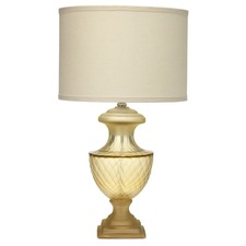 Mini Lee Urn Table Lamp Taupe Glass