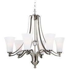 Evington Satin Nickel Chandelier