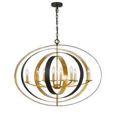 Luna 8 Light Oval Chandelier